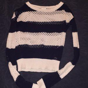 Long Sleeve Knit Crop Top